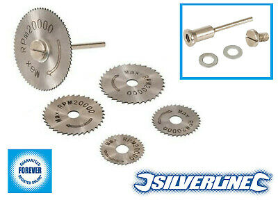 Silverline HSS Saw Disc Set for GMC Dremel Rotary Tools Cuts Copper Wood Plastic