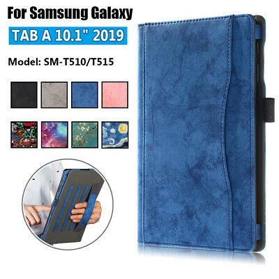 Leather Case Folio Flip Stand Case T510 T515 For Samsung Galaxy Tab A 10.1''