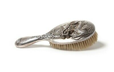 Silver brush for clothes.  China, late 19th - early 20th century.