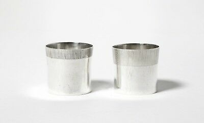 A pair of silver vodka cups (shot cup). Sweden, 1970.