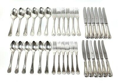 Silver cutlery set for 6 people, 36 items. French  lily,