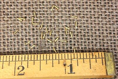 "1/8"" SOLID BRASS VERY TINY BRADS 25 NAILS #23 gauge Escutcheon pins USA made"