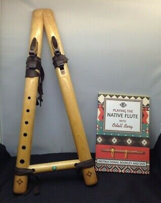 Lovely Very Rare Native American Style Flute High Spirits Flutes With Book A437