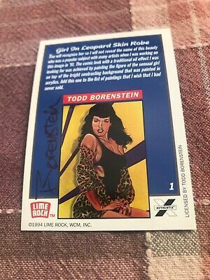 1994 Lime Rock Art Of Curves Promo Autographed Todd Borenstein Bettie Page