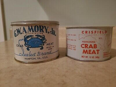 Crisfield md crabmeat can G.W. Amory Crabmeat can VA