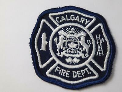Calgary Fire Department Patch Vintage Crest Badge Alberta Canada Collector