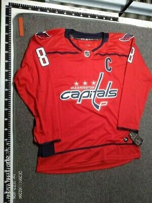Alex Ovechkin #8 Washington Capitals Red Home Sewn Jersey Adult XL/54 New w Tags