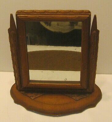 Early 1900's Mission Oak SHAVING MIRROR Excellent Overall Condition!!