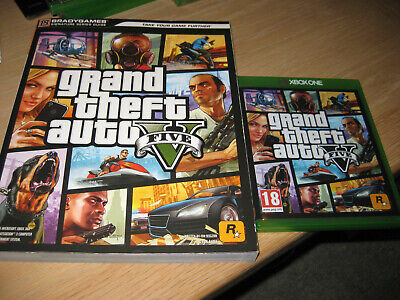 GRAND THEFT AUTO V FIVE - Inc. Strategy Guide - Microsoft Xbox One Game - MINT