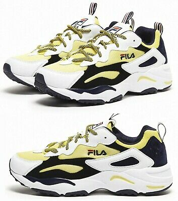 FILA RAY TRACER Athlétique Chaussures Blanches Marine Rouge