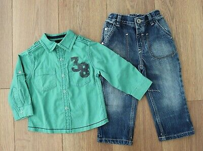 Next Baby Boys 12-18 Months Outfit Bundle Shirt Jeans Set