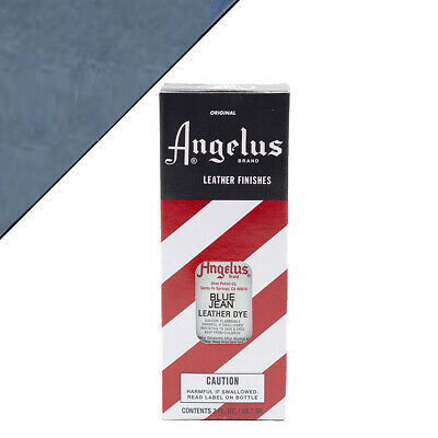C--044 Angelus Permanent Leather Dye With Applicator 3Oz Blue Jean