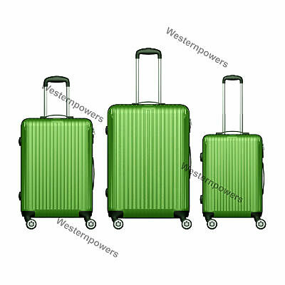"3 PCS Luggage Travel Spinner Wheels Suitcase Carry On 20"" 24"" 28"" Hardside Green"