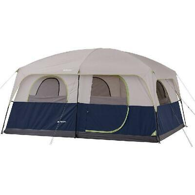 NEW Ozark Trail 14 X 10 Family Cabin Tent Sleeps 10 Camping w/ Rainfly Carry Bag