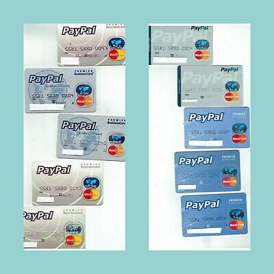 Huge Lot 10 Expired Paypal Premier Businesscard Mastercards For Collection