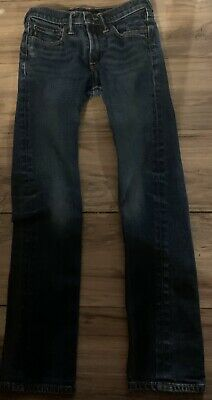 Abercrombie Kids Boys Denim Jeans Size 14 Slim Blue