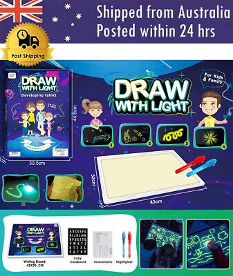 PVC Tablet Draw with Light Funny Toy Children Educational Developing Whiteboard