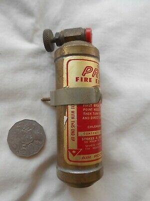 VINTAGE stokes CAR TRUCK PRESTO fire extinguisher WITH WALL BRACKET...
