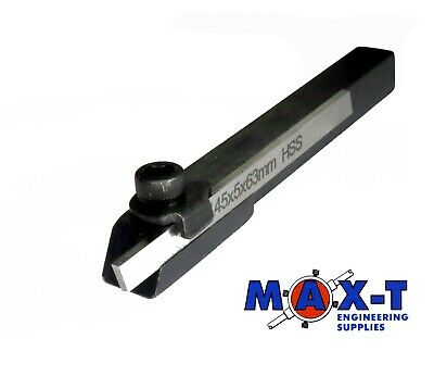 Small Cut off Parting Tool 8 mm Square Holder /& HSS Blade-Suits mini lathes