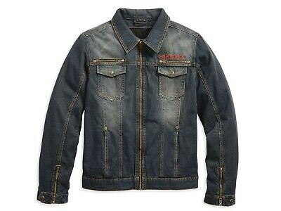 Harley Davidson Men's Dispatch Denim Riding Jacket, 97221-18EM, Large