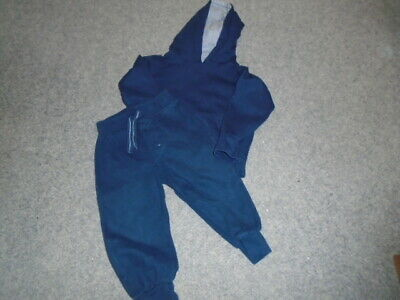 Boys navy blue hooded top and bottoms set, PEACOCKS (URBAN RASCALS) 2-3 years