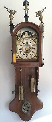 Warmink Friese Wall Clock Dutch Chain Driven Moonphase Seperate Date