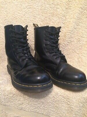 Genuine Dr Martens 1460 8 Eye Lace Up Black Leather Boots Uk5 Eu38 Us7W Us6M