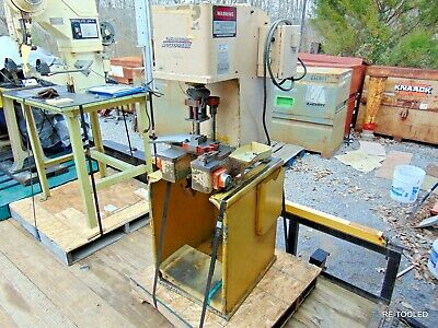 "2-Ton Hydraulic Bench Press Multipress 3"" Strk 10"" Day C-Frame Denison Working"