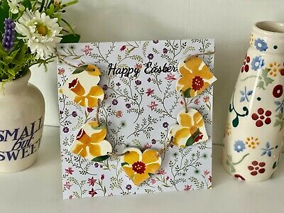 A Handcrafted 'Happy Easter' Card With A Emma Bridgewater Daffodils Mini Bunting