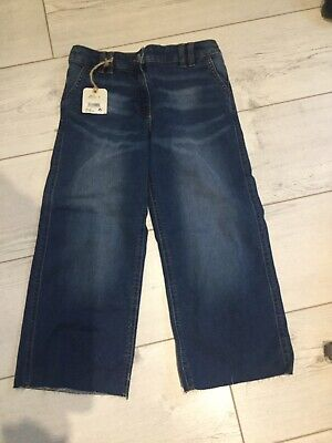 Girls Next Wide Legged Cropped Jeans - Age 8 Years BNWT