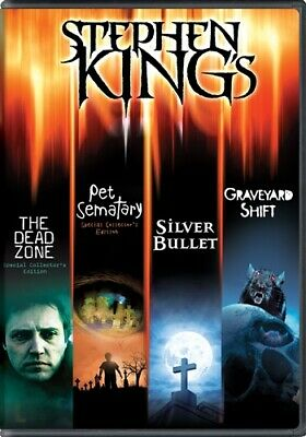 STEPHEN KING COLLECTION New 4 DVD Dead Zone Pet Sematary Silver Bullet Graveyard