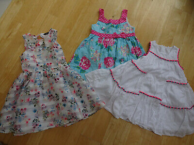 GEORGE girls 3 pack summer dresses AGE 4 - 5 YEARS EXCELLENT CONDITION