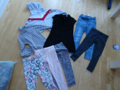 NEXT girls 8 piece clothes bundle dress jeans jumper AGE 5 - 6 / 6 YEARS EXCELLE