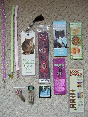 Lot of Bookmarks, Page markers, ribbons paper clips book darts