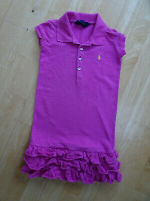 RALPH LAUREN girls pink polo dress AGE 6 YEARS AUTHENTIC EXCELLENT