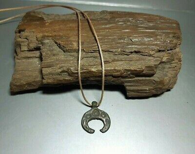 Ancient Viking Bronze Pendant Lunula Moon Kievan Rus Viking 9-12 cen.AD#2664