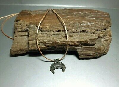 Ancient Viking Bronze Pendant Lunula Moon Kievan Rus Viking 9-12 cen.AD#2666