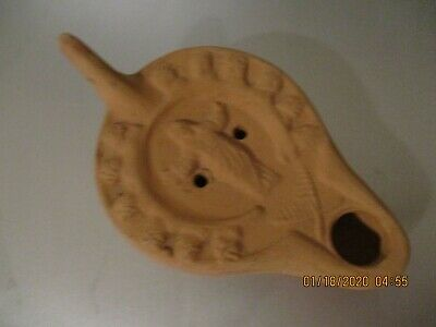 Oil lamp from the Catacombe de St. Callista in Rome made of Pottery