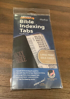 Tabbies LargeGold-Edged Bible Indexing Tabs Old & New Testament 80 Tabs Inclu...
