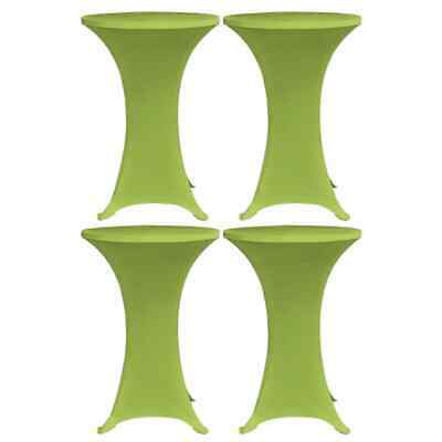 vidaXL 4x Stretch Table Cover Green Tablecloth Slipcovers Party Tableware