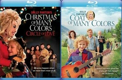DOLLY PARTON'S COAT OF MANY COLORS + CHRISTMAS OF MANY COLORS New Blu-ray MOD