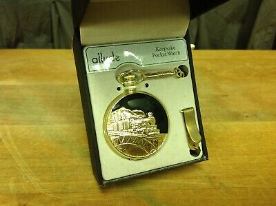 New In Box Rr Gold Train Pocket Watch With Thob