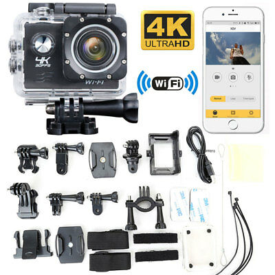 Ultra 4K Full HD 1080P Waterproof Sports Camera WiFi Action Camcorder GoPro