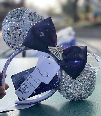 Disney Minnie Mouse Main Attraction Space Mountain Mickey Ears Limited In Hand