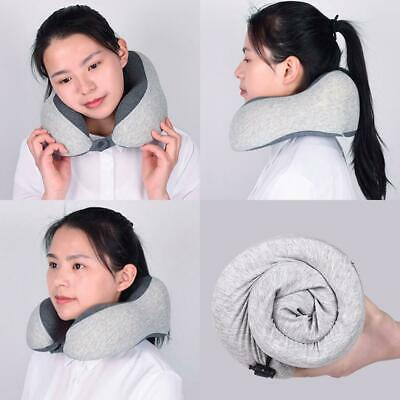 Portable Practical Solid Slow Rebound U Shape Soft Inflatable Pillow EH7E