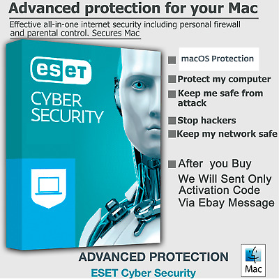 eset internet security ESET CYBER SECURITY PRO MAC 2020 🔑GLOBAL KEY 1Mac 1Year