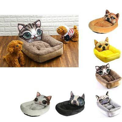 Winter Warm Pet Mattress Dog Cat Mat Cute Cartoon Animal Pet Bed Kennel EH7E