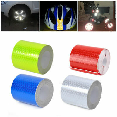 NEW Car Reflective Stickers 3M Safety Car Bicycle Cycling DIY Reflector Tape UK