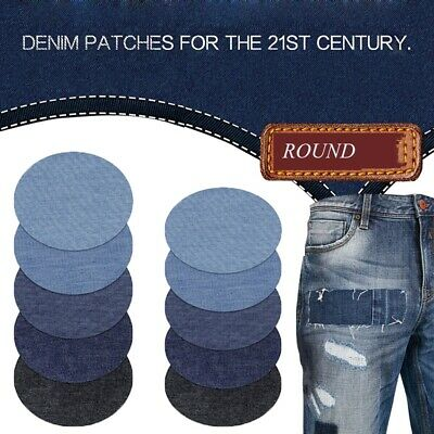 Denim Patches Iron On Sew On Repair  Jeans Elbow Knee Patch For Clothes Stickers