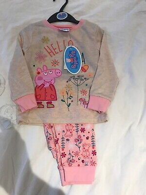 2-3 Years Peppa Pig Girls Pyjamas New With Tags TU